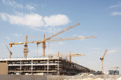 Construction site in Doha, Qatar Royalty Free Stock Images