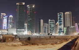Construction site in Doha, Qatar Royalty Free Stock Image