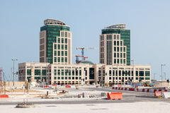 Construction site in Doha, Qatar Stock Image