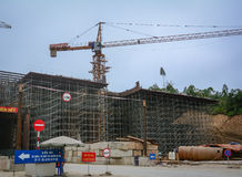 A construction site at downtown in Nanning, China.  Stock Images