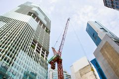 Singapore downtown construction site activity Royalty Free Stock Photo