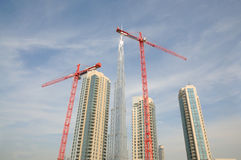 Construction site in Dubai Royalty Free Stock Photo