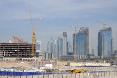 Construction site in Dubai Stock Photography