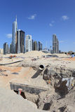 Construction site in Dubai Stock Image