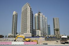 Construction Site Dubai Building Skyscrapers Royalty Free Stock Photography