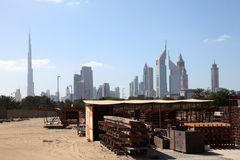 Construction site in Dubai city Stock Photography