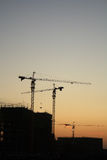 Construction site at dusk Royalty Free Stock Image