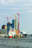 Construction site Elbphilharmonie Royalty Free Stock Photography