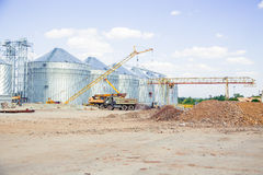 Construction site elevator, granary. A Royalty Free Stock Image