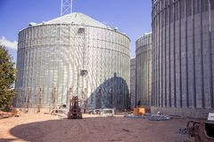 Construction site elevator, granary. A Stock Images