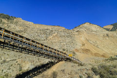 The construction site at the entrance of Fish Canyon Falls Trail. Los Angeles Stock Photography
