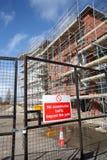 Construction Site Entrance Gate Fence stock photo
