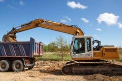 Construction site. excavator Stock Photo