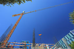 Construction site at Expo 98 suburb, Lisbon royalty free stock images