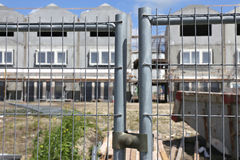 Construction site fence Royalty Free Stock Image