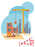 Construction site flat style. EPS10 vector illustration Stock Image