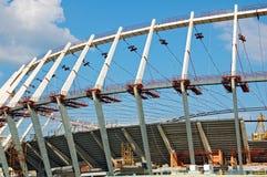 Construction site of football stadium Stock Photos