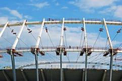 Construction site of football stadium Royalty Free Stock Photos