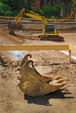 Construction site foundation Royalty Free Stock Photography