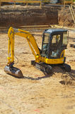 Excavator at construction site Royalty Free Stock Photo