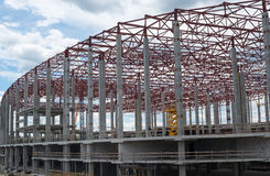 Construction site. Framework of the new building Stock Photos