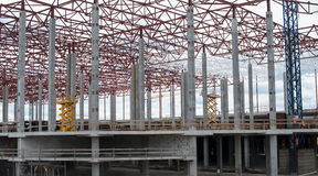 Construction site. Framework of the new building Royalty Free Stock Photos