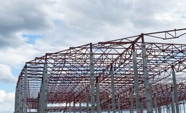 Construction site. Framework of the new building Stock Photography