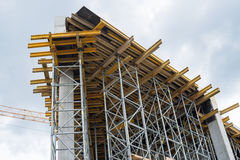 Construction site. Framework of the new building Royalty Free Stock Photography