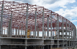 Construction site. Framework of the new building Stock Images