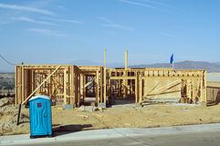 Construction Site & Framing Royalty Free Stock Photo