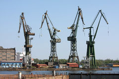 Construction site in Gdansk shipyard Stock Image