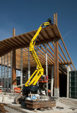 Construction site: glued laminated timber Stock Images