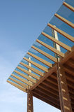 Construction site: glued laminated timber Stock Photos
