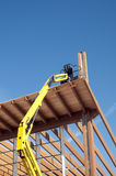 Construction site: glued laminated timber Royalty Free Stock Image