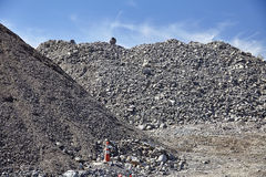 Construction site gravel fill various grades and sizes Stock Photography