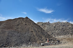 Construction site gravel fill various sizes Royalty Free Stock Image