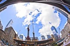 Construction site at ground zero Stock Photos