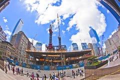 Construction site at ground zero Stock Photo