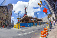 Construction site in Ground Zero, Royalty Free Stock Photo
