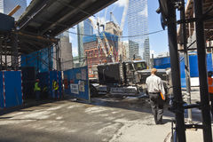 Construction site in Ground Zero, Stock Photos