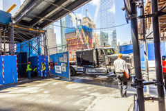 Construction site in Ground Zero, Royalty Free Stock Photos