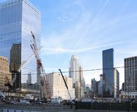 Construction site at Ground Zero Stock Images