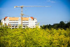 Construction site growth Royalty Free Stock Images