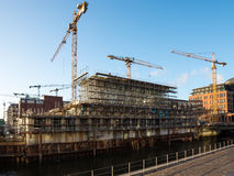 Construction Site Hafencity Hamburg Royalty Free Stock Photos