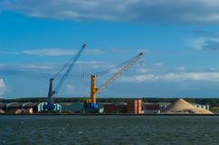 Construction site in the harbor. Of Antwerp Stock Images