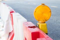 Construction site hazard warning light.  stock image