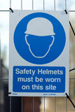 Construction site health and safety signs Royalty Free Stock Photo