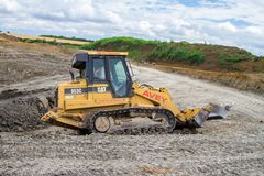 Construction Site with heavy excavating machinery Stock Photography