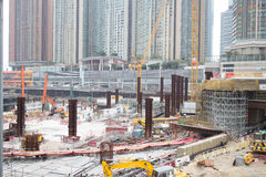 Construction Site of Hong Kong Express Rail Stock Photography