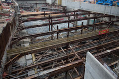 Construction Site of Hong Kong Express Rail Royalty Free Stock Images
